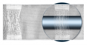 Řasící stuha šířky: 8cm