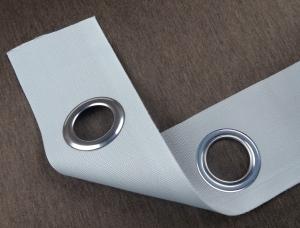 Törtfehér színű szalag ezüst karikával - szélesség 6cm