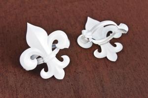 Dekoračný štipec – Biely