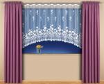 """Hotová záclona Žakár """"Henrieta"""" rozmerov: výšky 150cm × šírky 450cm"""