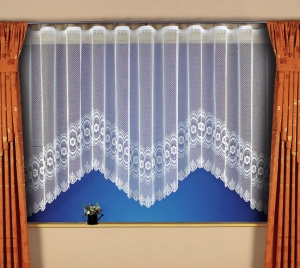 """Hotová záclona Žakár """"Lisa"""" rozmerů: výšky 150cm × šířky 400cm"""
