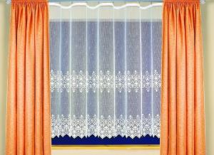 """Hotová bíla záclona žakár """"Toscana"""" 160cm × 320cm"""