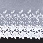 Hotová biela žakarová záclona Mirabel 150cm × 300cm