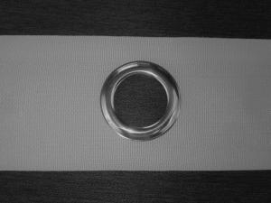Páska šedá so striebornými kruhmi - šírka 10cm