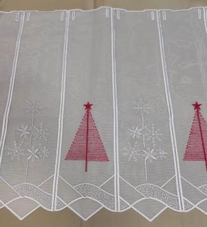 """Záclona farebná metrážová vitrážka """"vianočná vyšívaná"""""""
