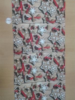 Vianočná štóla rozmerov: 45 x 140 cm, material: bavlna