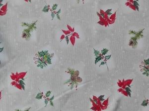 Vianočný obšitý obrus Vami zvolených rozmerov 3, material: bavlna