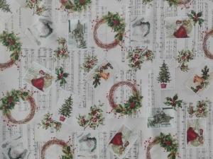 Vianočný obšitý obrus Vami zvolených rozmerov 4, material: bavlna