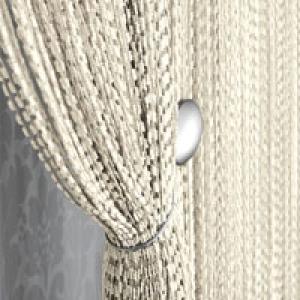 Šnúrková bíla záclona, rozměru 160 × 290cm ( poslední kus )