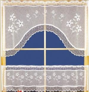 "Hotová záclona vitrážka žakarová ""souprava"" výška: 60cm šířka: 115cm 1ks, výška: 30cm šířka: 115cm 1ks"
