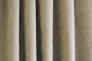 Závěs zatemňujíci metrážový sivo - hnedá
