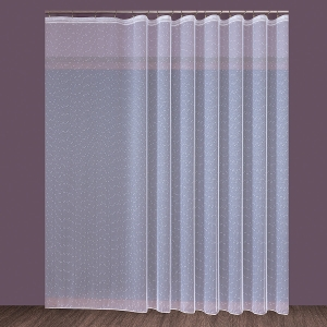 """Készrevarrt, fehér függöny  """"Eső"""" méretei: 160cm × 430cm"""