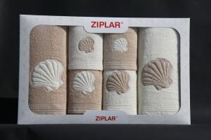 Dárková kazeta osušek a ručníků 6ks v odstínu: béžová