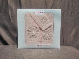 Ziplar 3 darabos kéztötrlő és törölköző set hímzése: