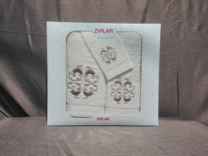 Ziplar súprava uteráku a osušky s výšivkou: