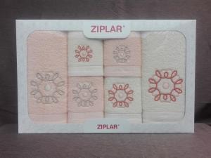"""Ziplar souprava ručníku a osušky s výšivkou: """"Mystico"""" 6ks odstínu: meruňková"""