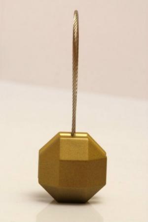 Magnetka ocelová na závěs nebo záclonu ve tvaru: pětiuhelník a odstínu: staré zlato