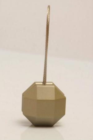Mágneses függöny elkötő színe: antik platyna, formája: ötszög és mérete: 35cm