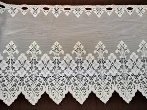 Záclona bílá metrážová žakarová vitrážka