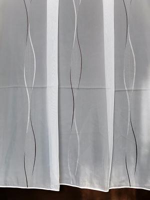 Záclona bíla metrážová voál hladký