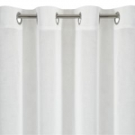 Záclona metrážová biely voál s béžovým vzorom