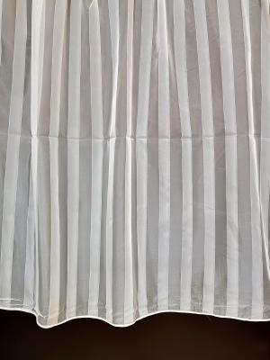 Záclona krémový metrážová voál hladký