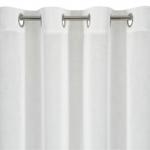 """Záclona metrážová bielé sablé so záťažovým olovkom """"tri rady výšiviek"""""""