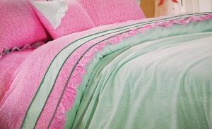 "Obliečka bavlna ""Pink"" rozmerov: 70cm×90cm (2ks) + 140cm×200cm (2ks)"