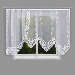 Hotová biela žakarová záclona výška:160 šírka: 300cm Hermina