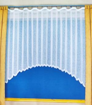 Hotová biela žakarová záclona