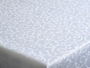 Dekoračný teflónový bielý obrus rozmerov: 80 x 80 cm