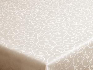 Dekoračný teflónový krémový obrus rozmerov: 80 x 80 cm