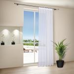 Voile, fehér fényáteresztő függöny, méterárú . Gyártva németországban