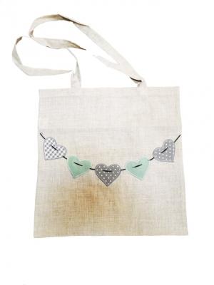 Textil táška méretei: magasság: 40, szélleség: 42cm