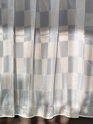 Organza, fényáteresztő függöny, méterárú krém bézs