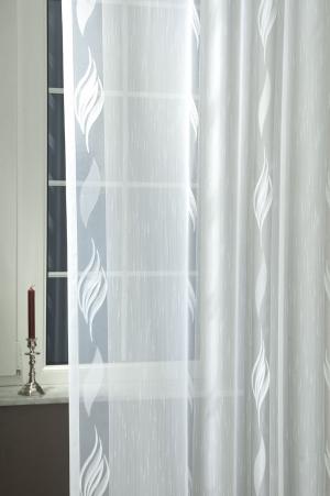 Záclona metrážová biela so vzorom