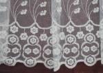 Záclona Ofelia krémová metrážová tylová záclona vyšívaná do výšky 250cm