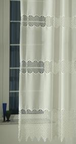 """Hímzett, fényáteresztő függöny, méterárú, """"Gyöngyi ekru"""""""