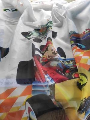 Záclona metrážová detská