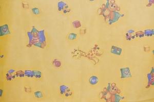 Gyerekmintás fényáteresztő függöny méterárú Maci 2