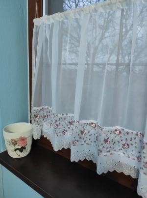"""Hotová záclona vitrážka """"Shaby"""" 60 × 140cm"""