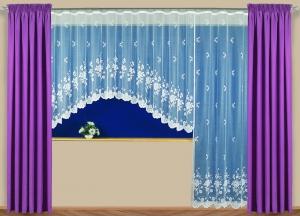 """Hotová záclona Žakár """"Lotris"""" okno anebo dveře"""