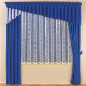 """Hotová záclona Žakár """"Margaréta"""" 180cm × 300cm s našitou řasící stuhou"""