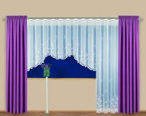 """Hotová záclona Žakár """"Rachel"""" na okno anebo dveře."""