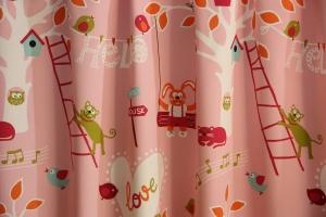 """Záves detský metrážový ružový """"Medit Tree"""""""