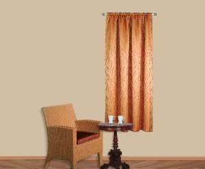 """Készrevarrt, sötétítő dekorációs függöny,  """"Lamia"""" dió méretei: 180cm × 138cm 2db"""