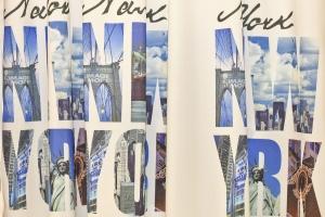 """Hotový závěs pro děti """"New york"""" výška: 240cm šírka: 140cm + našitá tunelová páska 2ks závěsu"""