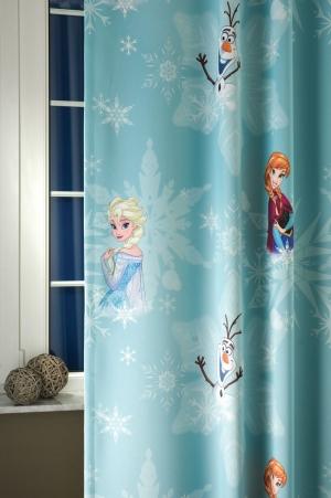 "Hotový záves black-out detský ""Frozen"" 180cm × 150cm pri siti patka vytiahla nit"