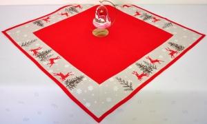 Vyšívaný obrus Vianočný rozmerov: 80 x 80cm