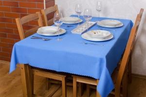 Kék teflonos asztalterítő, méretei: 150 x 250cm